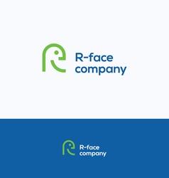 R face logo vector