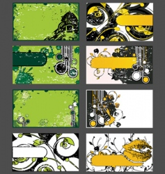 set of grungy business cards vector image