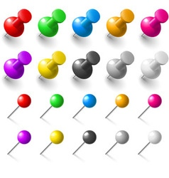 Set of pushpin vector image