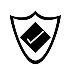 Shield with check mark antivirus icon image vector