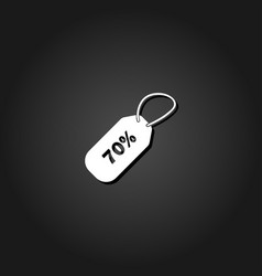 70 percent discount icon flat vector image
