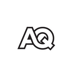 A q lines letter lines logo design vector
