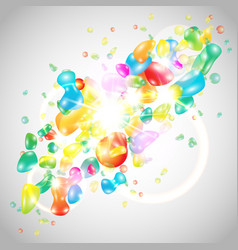 abstract background colorful template vector image