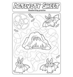 Activity sheet handwriting practise 8 vector