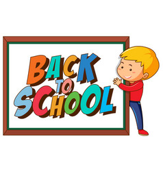 Back to school template withboy vector