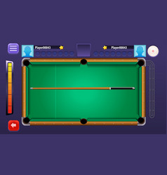 Billiard pool mobile game complete gui set vector