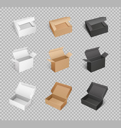 Box cardboard carton parcels packaging vector