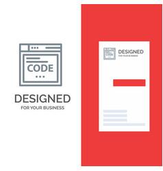 browser internet code coding grey logo design and vector image
