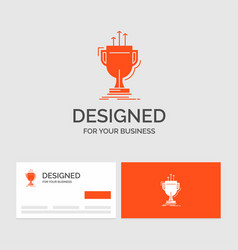 Business logo template for award competitive cup vector