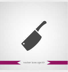 chef knife icon simple vector image