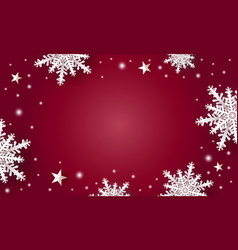christmas background design white snowflake vector image