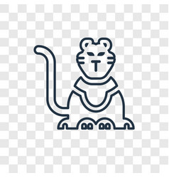 circus tiger concept linear icon isolated on vector image