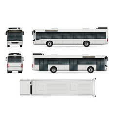 City bus template vector