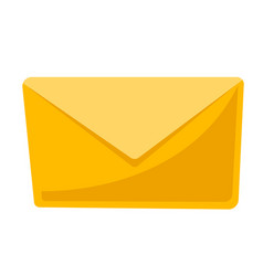 closed yellow envelope cartoon vector image