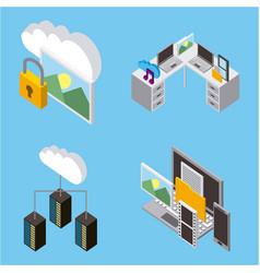 cloud computing storage vector image