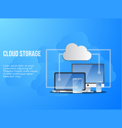 cloud storage conceptual design template vector image