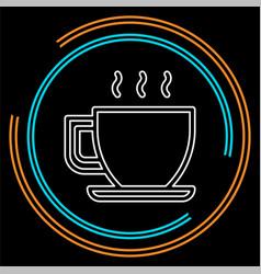 coffee cup or mug icon coffee hot drink espresso vector image