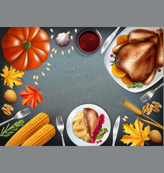 colored thanksgiving day concept vector image