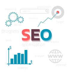 Concept seo optimisation website promote flat vector