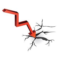 crisis concept vector image