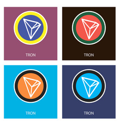 Crypto coin icon on isolated white background vector