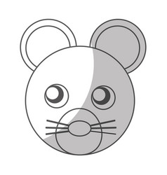 Cute mouse character icon vector