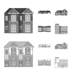 Design of building and front symbol vector