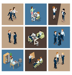 different business situations in office vector image