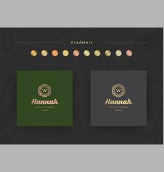 elegant luxury brand logo design template vector image
