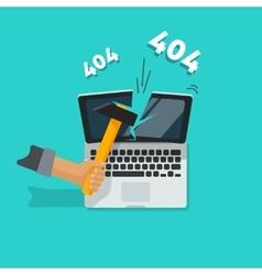 Error 404 page vector