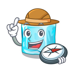 Explorer ice cubes set on whit character vector