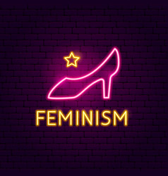 feminism neon sign vector image