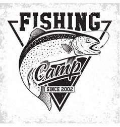 fishing club logo vector image