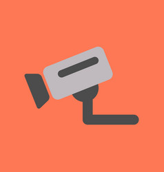 flat icon on background security camera vector image