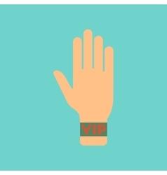 flat icon stylish background poker hand VIP vector image