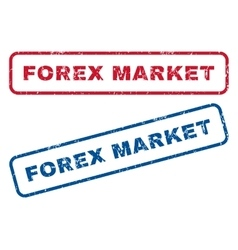 Forex Market Rubber Stamps vector image