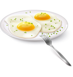 Fried Eggs Realistic vector image