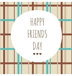 Greeting on friendship day vector