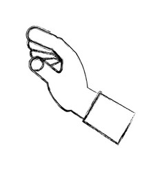 hand with vector image