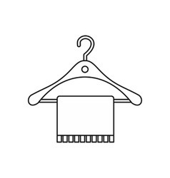Hanger and towel icon outline style vector image