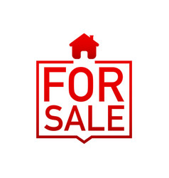 Home for sale sold sign vector