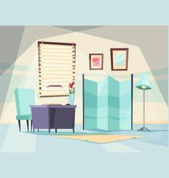 hospital room medical hospitalization interior vector image