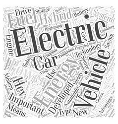 Hybrid electric car Word Cloud Concept vector