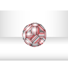 Isolated abstract soccer ball vector image