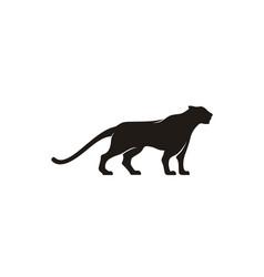 Jaguar puma lion panther cheetah silhouette logo vector