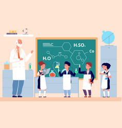 kids chemistry lab school science laboratory vector image