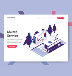 landing page template shuttle service concept vector image