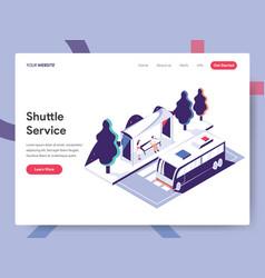 Landing page template shuttle service concept vector