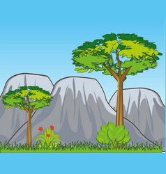 landscape with year nature and mountains vector image
