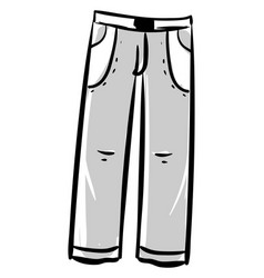 man gray trousers on white background vector image